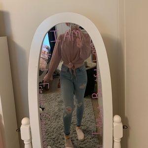Shein dusty rose blouse